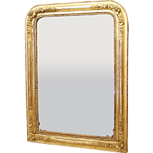 Louis Philippe Gilt Wood Mirror with Flowers