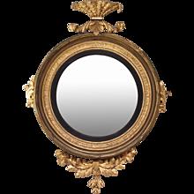 English Regency Giltwood Bull's-Eye Mirror, Early 19th Century