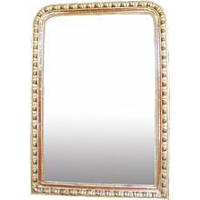 Louis Phillippe Giltwood Mirror with Egg and Dart Frame