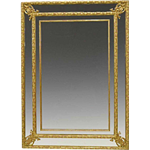 Régence Style French Giltwood Borderglass Mirror