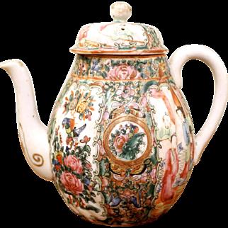 Rose Medallion Teapot