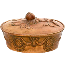 English Caneware Covered Game Pie Dish