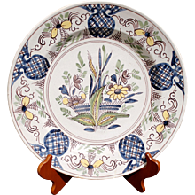 Desvres (near Calais), French Faience Charger