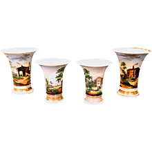 Four Piece Paris Porcelain Garniture