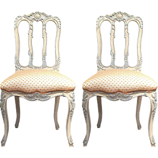 Pair of Italian Painted Sidechairs