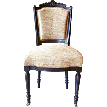 Ebonized Continental Louis XVI Style Chair