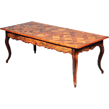 Louis XV Style Parquetry Top Farm Table