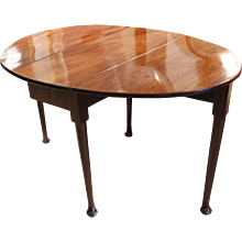 George II Period Small Oval Dropleaf Table