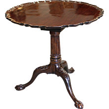 George II Mahogany Tilt Top Table with Pie Crust Top