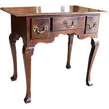 George II Oak Lowboy