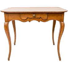 Early 19th Century French Provincial Oak Dish Top Table