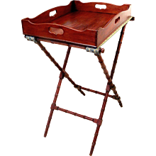 English Regency Butler's Tray on Stand