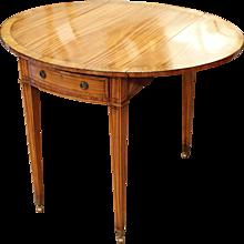 George III Satinwood Pembroke Table, 18th Century