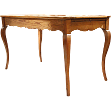 French Louis XV Style Fruitwood Farm Table, 19th Century