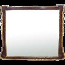 George II Style Burl Walnut And Parcel Gilt Mirror