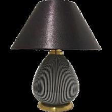 Vignelli Striped Table Lamp for Venini