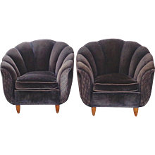 A Pair Of Italian Coquille Chairs