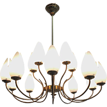 Mid-Century Italian Design Fifteen-Light Chandelier