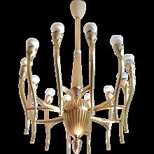 Mid Century Italian Brass Chandelier