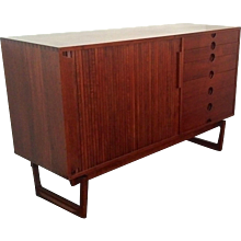 Mid Century Credenza with Sliding Door, Italy