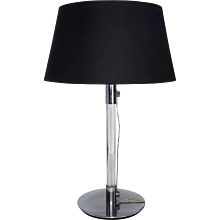 George W. Hansen Glass and Chrome Table Lamp
