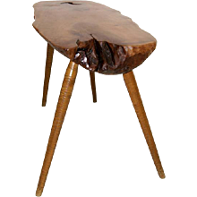 Mid Century Walnut Console Table