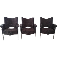 "Set of Three Bořek Šípek ""Maletak"" Chairs, Signed."