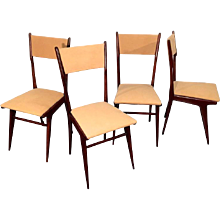 Set of Four Italian Dining Chairs, 1957