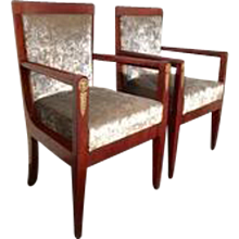 A Pair of Empire Armchairs, Italy
