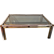 Chrome and Brass  Low Table Romeo Rega, Italy