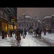 Place de l'Opera in Winter