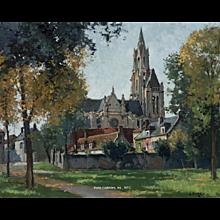 Cathedrale de Senlis en Automne