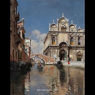 Scuola Grande di San Marco and the Ponte Cavallo on the Rio dei Mendicanti, Venice