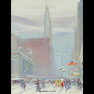 Johann Berthelsen - 42nd Looking East, Chrysler Building, Grand Central