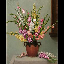 Gladiolus and Delphinium