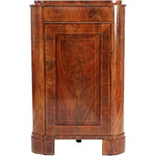 Danish Empire Corner Cupboard