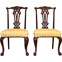 Pair of Danish Chippendale Style Chairs
