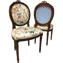 Pair 19th Century Louis XVI Style Side Chairs