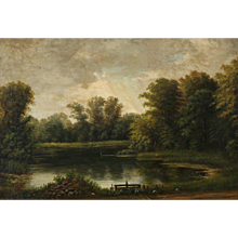 Danish Landscape with Forest and Lake by N.A. Lytzen