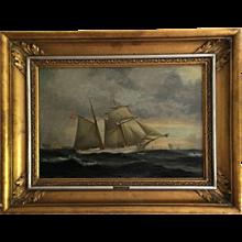 "19th Century Danish Ship Portrait of Schooner ""Kaerteminde"""