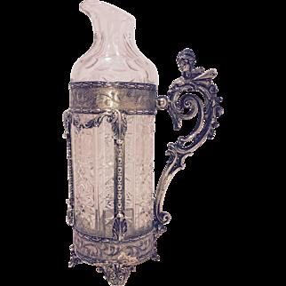 Liberty silver wine jug Italy Early 20Th century