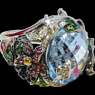 Multi Gemstone Cocktail Ring 18K