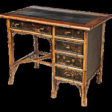 19th Century English Bamboo Desk