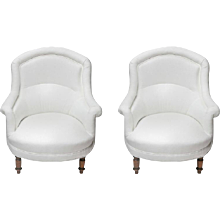 Late 19th Century Pair of Provencal French Armchairs