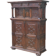 19th Century French Oak Court Cupboard