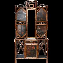 19th Century English Bamboo Hall Stand