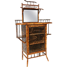 19th Century English Bamboo Lacquer Cabinet