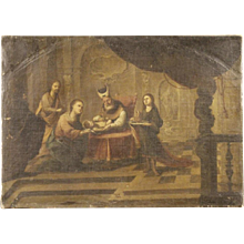 18th Century Spanish Painting Circumcision of Jesus