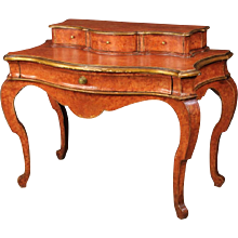 20th Century Spanish Lacquered Writing Desk