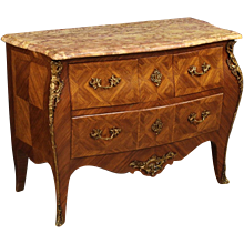20th Century French Inlaid Commode In Louis XV Style